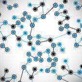 Beautiful structure of the DNA molecule — Vecteur