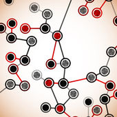 美丽的 dna 分子的结构 — 图库矢量图片