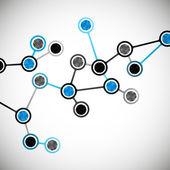 Krásná struktura molekuly dna — Stock vektor