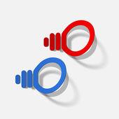 Light bulb vector sticker — Stock Vector