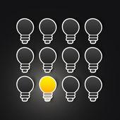 Light bulb vector sticker — Stock vektor