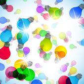 Light bulb vector background — Stock Vector