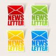 Stock Vector: Latest news, realistic sticker