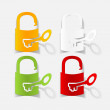 Stock Vector: Padlock icon