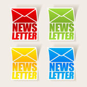 Latest news, realistic sticker — Stock Vector