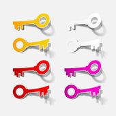 Icona chiave — Vettoriale Stock