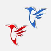 Hummingbird sticker — Stock Vector