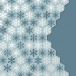 Winter background of snowflakes — Stok Vektör