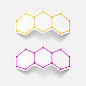 Moleculaire structuur, sticker — Stockvector