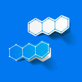 Molecular structure, sticker — Stockvektor