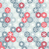 Winter background of snowflakes — Stock Vector