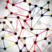 Moleküler yapısı, arka plan — Stok Vektör