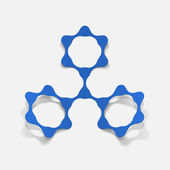 Molecular structure, sticker — Vecteur