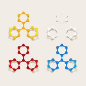 Molecular structure, sticker — Stock Vector