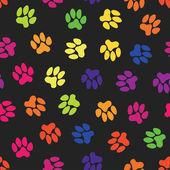 Seamless pattern, animal footprints — Stock Vector
