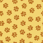 Seamless pattern, animal footprints — Stock Vector