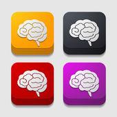 App icon brain — Stock Vector
