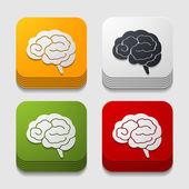 приложение иконку мозга — Cтоковый вектор