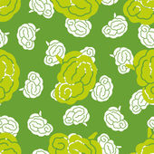 Seamless pattern, brain — Stock Vector