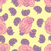 Seamless pattern, brain — Stock Vector