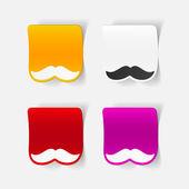Realistic design element: mustache — 图库矢量图片
