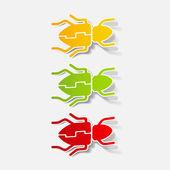 Realistic design element: beetle — Stock Vector
