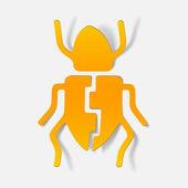Realistic design element: beetle — ストックベクタ