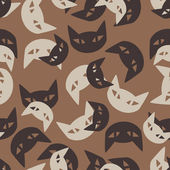 Plano de fundo sem emenda: gato — Vetor de Stock