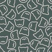 Seamless background: cat — 图库矢量图片