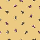 无缝背景: 甲虫 — 图库矢量图片