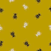 Seamless background: beetle — Stockvektor