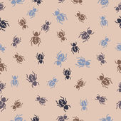 Seamless background: beetle — Wektor stockowy