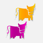 Realistic design element: cow — Stock Vector