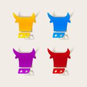 Realistic design element: cow — 图库矢量图片