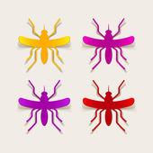 Realistic design element: mosquito — Stock Vector