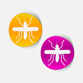 Realistic design element: mosquito — Stock Vector