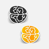 Realistic design element: brain — Wektor stockowy