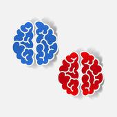 現実的な設計要素: 脳 — ストックベクタ