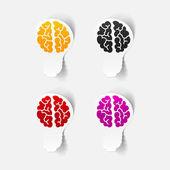 Realistic design element: brain lamp — Stock Vector