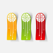 Realistic design element: brain drop — Stock Vector