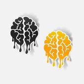 Realistic design element: brain drop — Wektor stockowy