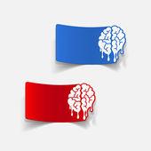 Realistic design element: brain drop — Vettoriale Stock