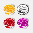 Realistic design element: brain-usb, plug — Stock Vector #40612889