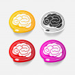 Stock Vector: Realistic design element: brain-usb, plug
