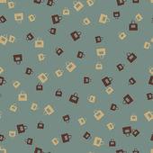 Seamless background: bag — Stock Vector