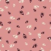 Seamless background: eye — Stock Vector