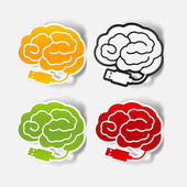 Realistic design element: brain-usb, plug — Cтоковый вектор