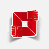 Realistic design element: handshake — Vector de stock