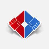 Realistic design element: handshake — Stok Vektör