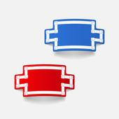 Realistic design element: handshake — Stock Vector